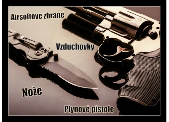 Revolvery, nože